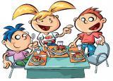 bambini in mensa